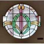 stained glass circles and ovals