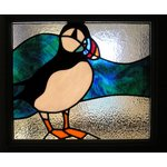 animals and birds in stained glass