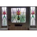 Art deco style stained glass