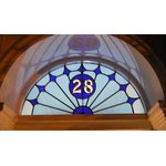 house names and numbers in stained glass