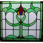 square stained glass